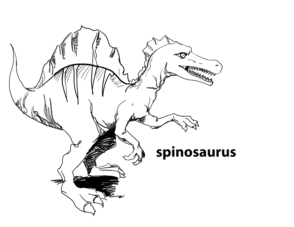 Free Coloring Pages Of Spinosaurus Spinosaurus Coloring Pages