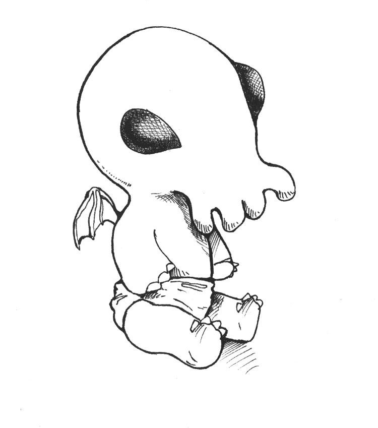 Baby-Cthulhu-bw